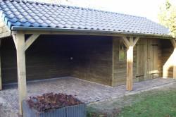 tuinhuis bestrating/oprit bestrating/keramisch terras